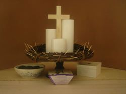 Lent begins soon - here is a wonderful idea for sharing it with your family. http://dawnathome.typepad.com/by_sun_and_candlelight/2007/02/ash_wednesday_1.html