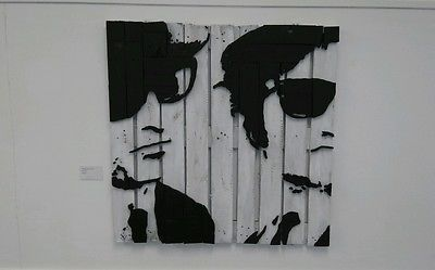 Original art portrait pallet wood blues brothers jake & elwood Aykroyd belushi