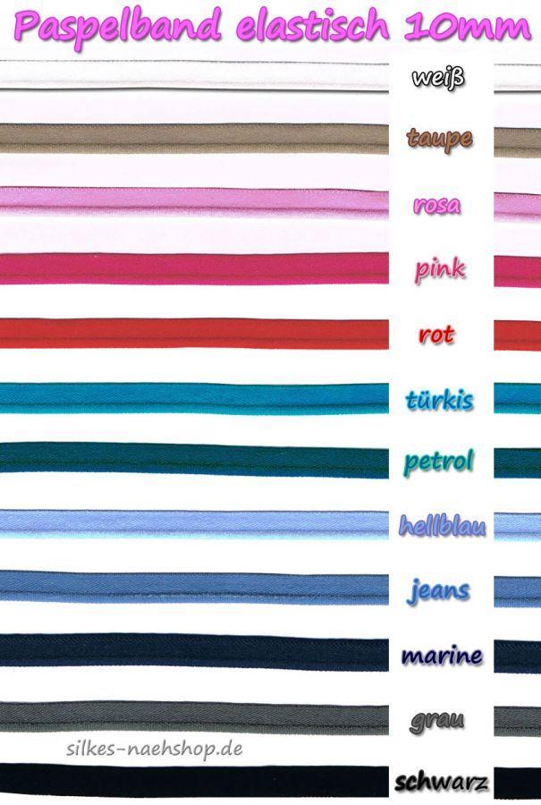 Paspelband elastisch - freie Farbwahl   silkes-naehshop
