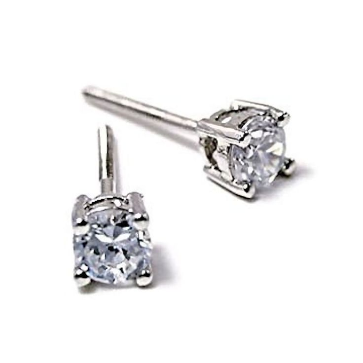 Clark: Mens 4mm Russian Ice CZ Simulated Diamond Screw Back Earrings #rusisianjewelry