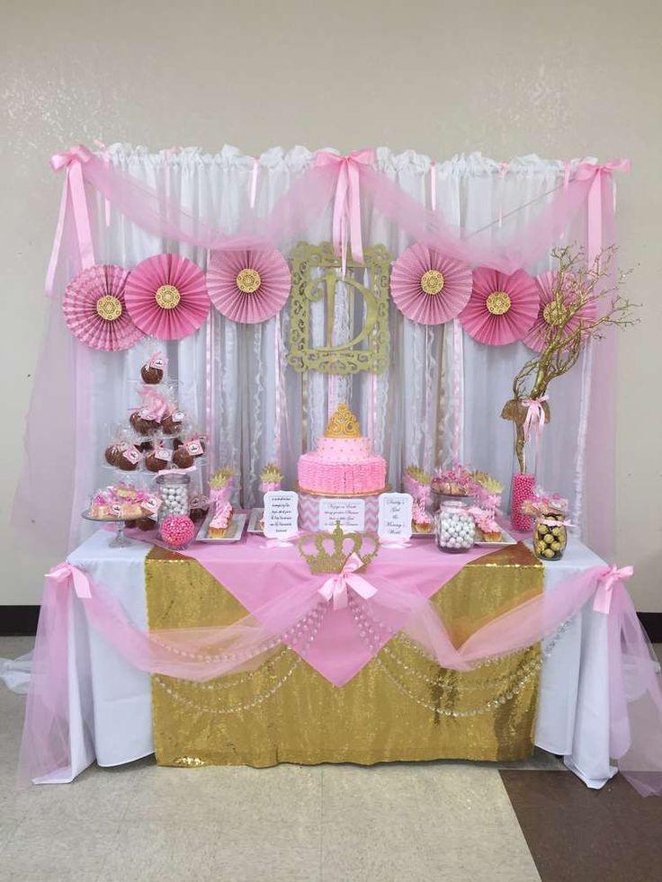 Princess baby shower party ideas princess baby showers for Princess dekoration