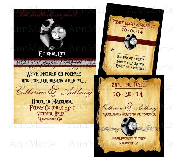 Nightmare Before Christmas Wedding Invitation