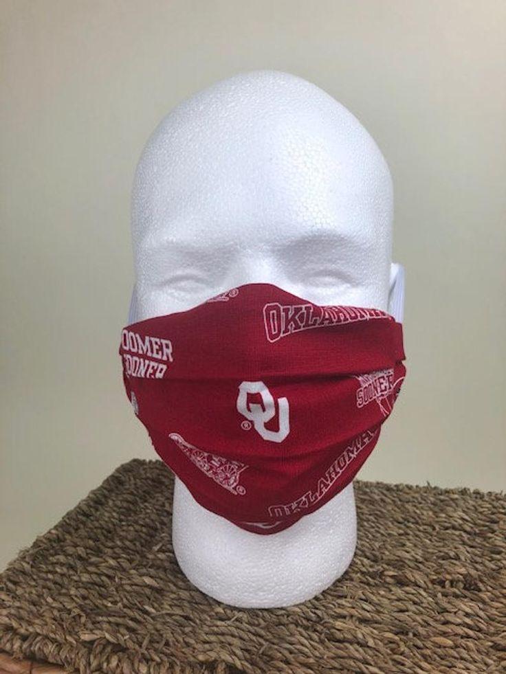 Oklahoma sooners face mask ou face mask2 layer