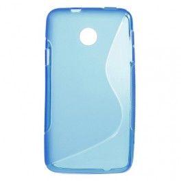 Huawei Ascend Y330 sininen silikonisuojus.