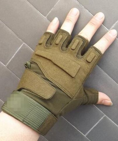 Blackhawk Hell Storm Usa Special Forces Tactical Gloves Slip Outdoor Men Fighting Fingerless Gloves - Nifty Thrifty Store - 6