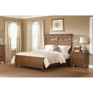 Liberty Heathstone Queen or King Panel Bed and Nightstand