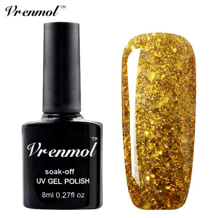 Vrenmol 1 шт. 20 Цветов Блеск Алмазный Гель Лак Блестящие Sequine Soak Off Long-lasting UV LED Ногтей Гелем лак для Искусства #jewelry, #women, #men, #hats, #watches