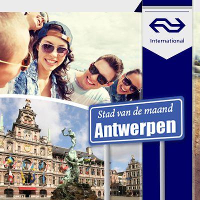 Wil je naar de Stad van de maand: Antwerpen? Boek dan een NS International treinarrangement naar #Antwerpen. Dit arrangement is het hele jaar te boeken bij Weekendjeweg.nl. Bijzonder handig, mileuvriendelijk en vriendelijk voor je portemonnee. #weekendjeweg #weekendje #NS #trein #hotel #Antwerpen