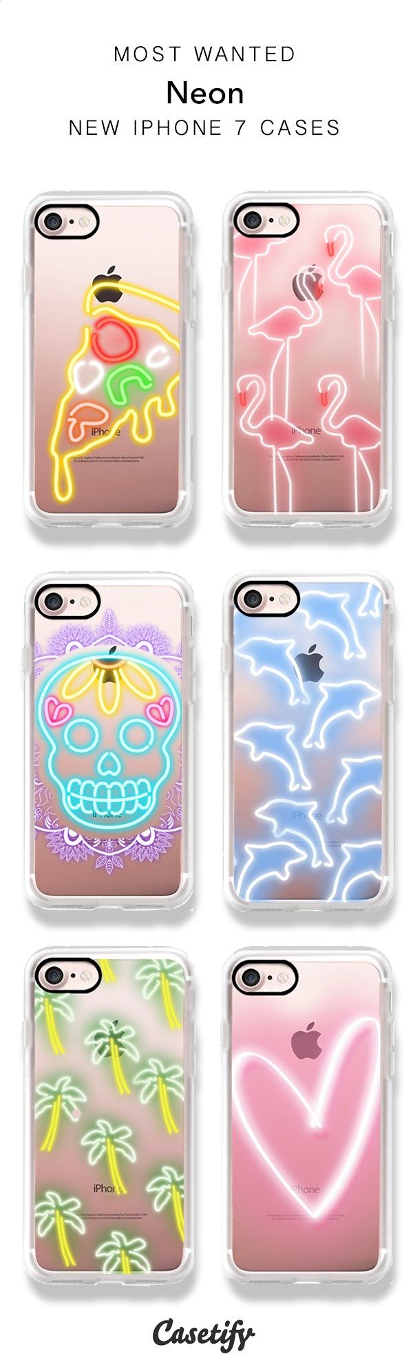 Light it up! Neon clear iPhone cases. Available for iPhone 7/7 plus/6/6s/5. Shop the Neon Collection here > www.casetify.com/...