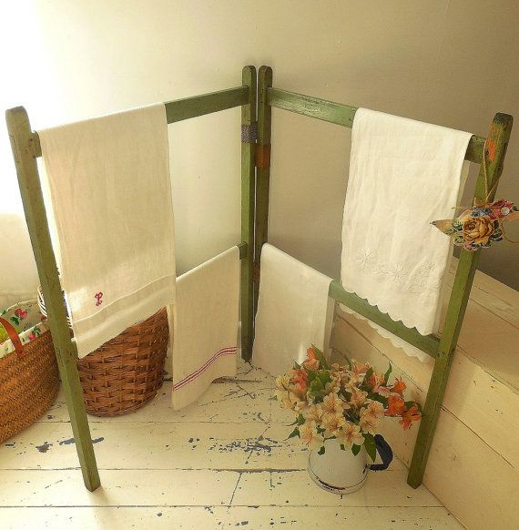 Darling vintage wooden clothes horse washing airer by EmmaAtLHV