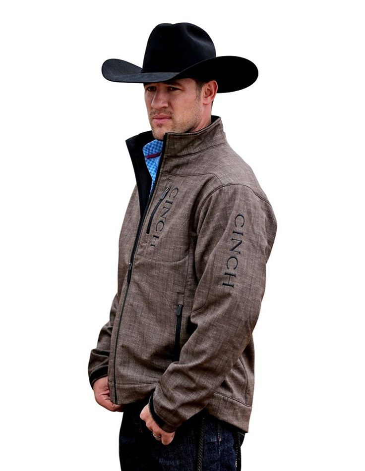 Cinch Apparel Mens Brown Bonded Jacket at Amazon Men's Clothing store: