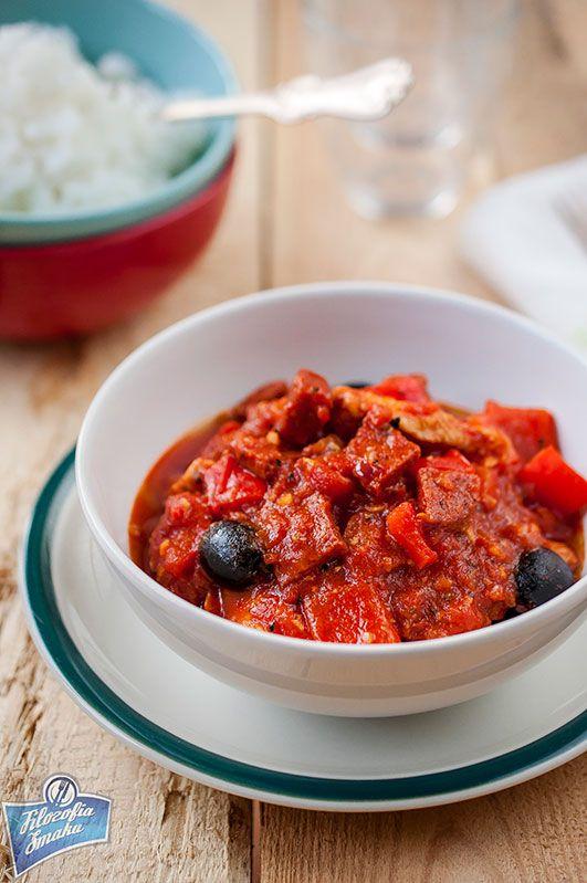 Spanish Chicken with Chorizo and Olives / Kurczak z chorizo i oliwkami