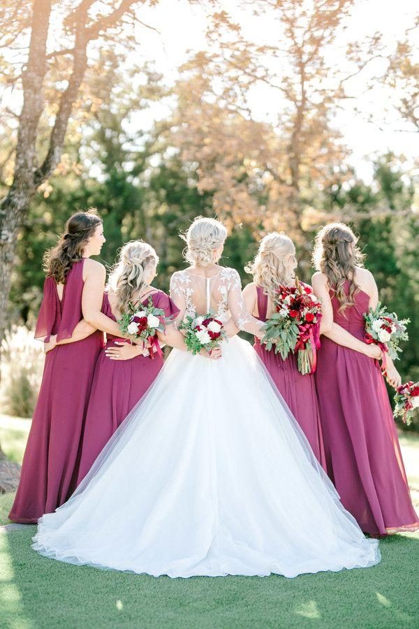 Weatherford Wedding Venue Winter Bridesmaid Dresses Bridesmaid
