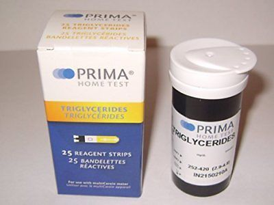 Cholesterol Testing: Prima Triglycerides Test Strips (Pack Of 25 Pcs) New -> BUY IT NOW ONLY: $50.83 on eBay!