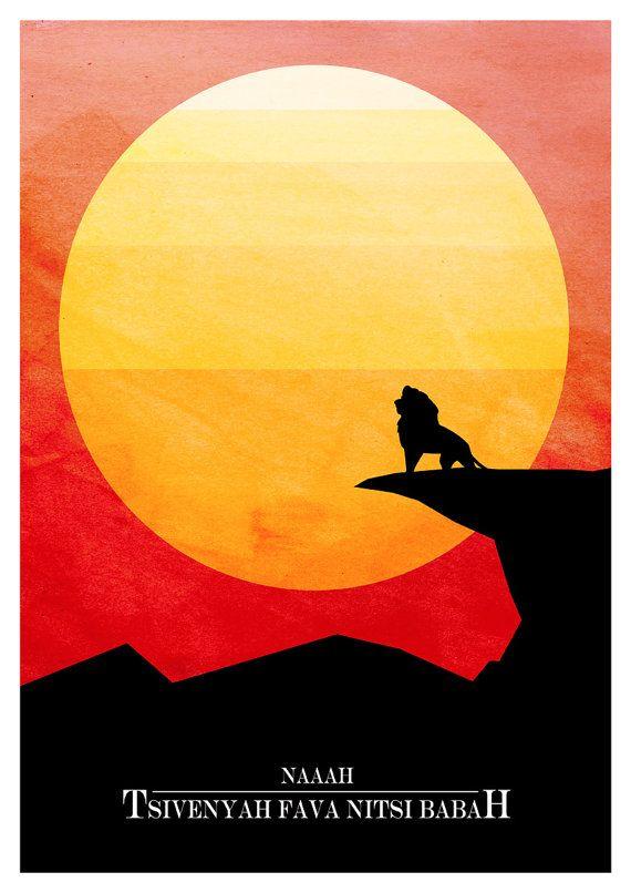 The Lion King  NAAAH TSIVENYAAFAVANITSIBABAH  Movie by superclean, $16.90 @Lucrezia D'Ettorre