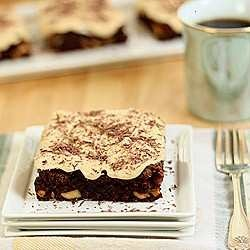 Brownies with bourbon caramel frosting. | yummy delights | Pinterest