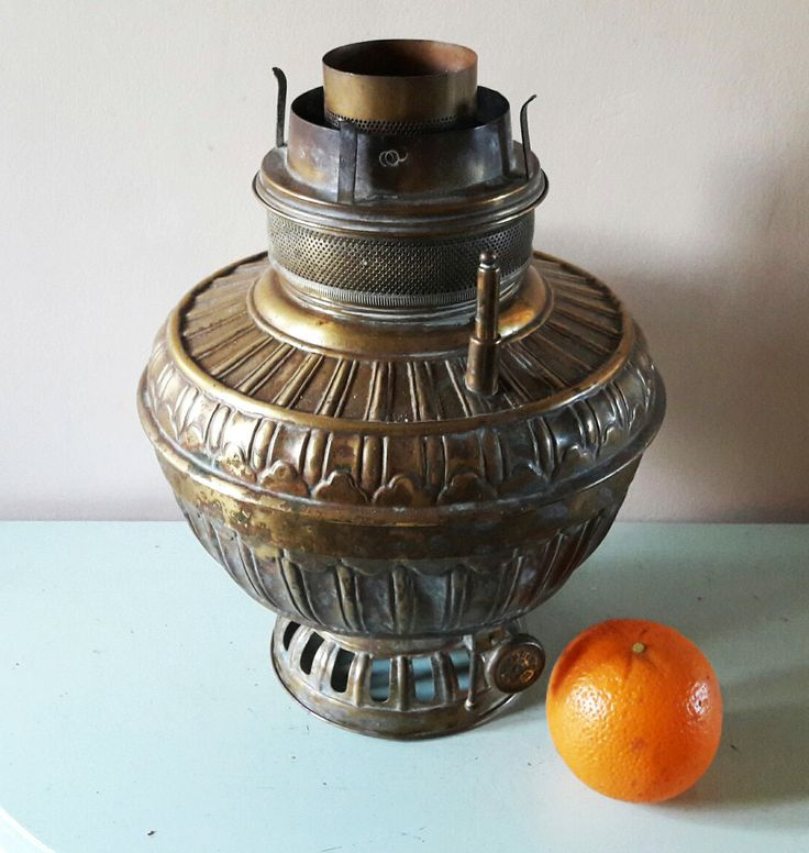 Very Large Victorian Brass Oil Lamp Base - Perfect for Upcycling/Conversion by RAVERETRO on Etsy