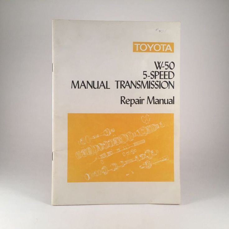 OEM Toyota W-50 5-Speed Manual Transmission Repair Manual, for Toyota dealership use. Illustrated with step-by-step photos from 1974. Shipping and tracking in the US via USPS is included in the price. | eBay!