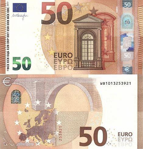 European Monetary Union 50 Euros 2017