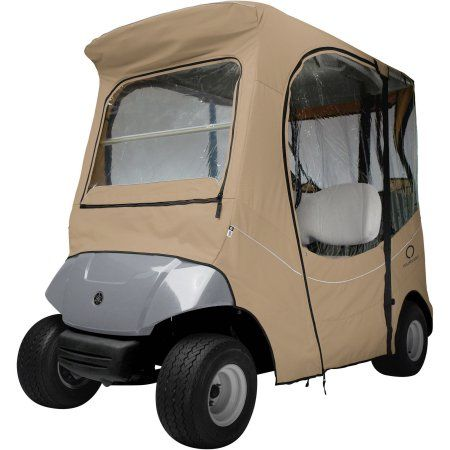 Classic Accessories Fairway The Drive Yamaha Golf Cart Enclosure, Beige