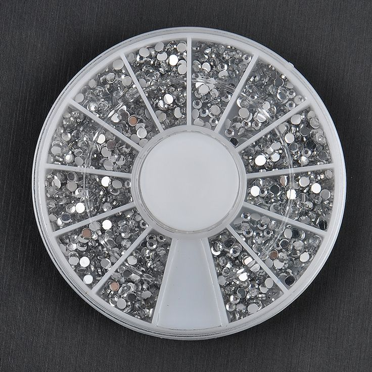 2000 pcs gemerlapnya 1.5 mm jelas transparan putaran dekorasi Nail Art 3d, Rhinestones manikur roda, Kancing kuku, Pengiriman gratis