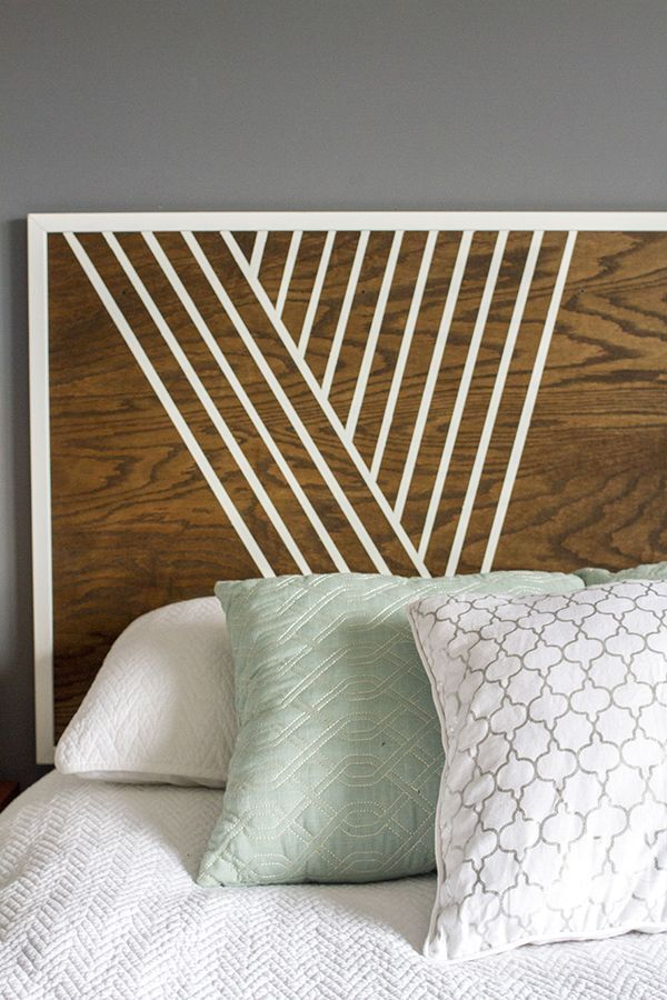 Create Your Own Headboard Using Birch Wood, Trim And Paint Photo