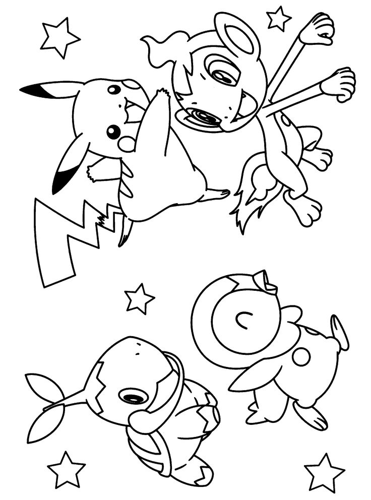 pokemon coloring pages - Free Large Images