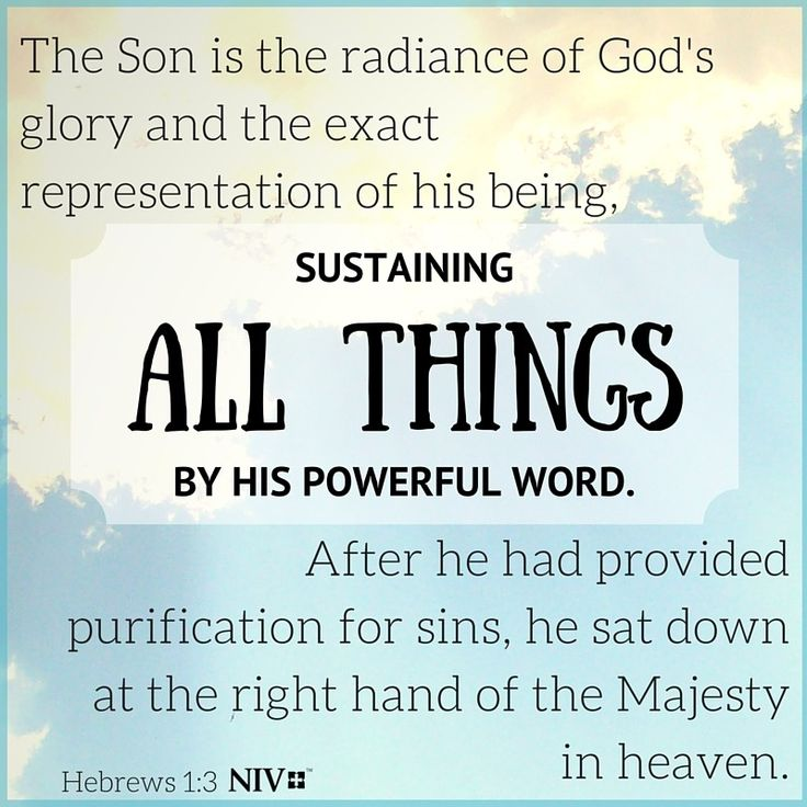 NIV Verse of the Day: Hebrews 1:3