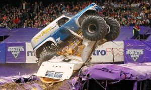Groupon - One Ticket Plus One Pit Pass to Monster Jam at Gillette Stadium on Saturday, June 20, at 7 p.m. (Half Off)  in Gillette Stadium. Groupon deal price: $28