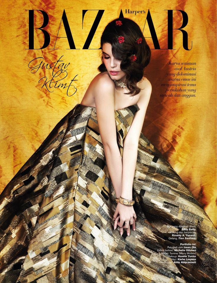 as editor fashion, styled for Harper's Bazaar Wedding Ideas (Art Inspiration: Gustav Klimt)
