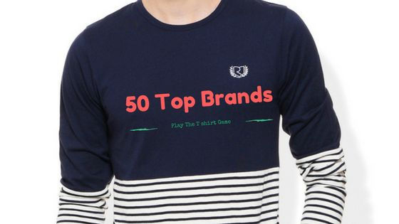 Top 50 Brands To Buy T shirts  In India