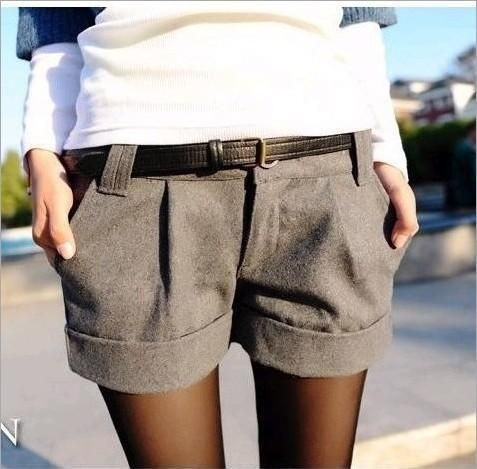 Thicken Women Loose Short Turn-Up Straight Woolen Bootcut Short Pants //Price: $15.08 & FREE Shipping //     #sale