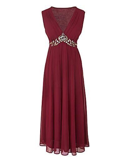 NEW Marisota Changes Boutique Berry Wine Georgette Midi Party Dress RRP £90 ASOS