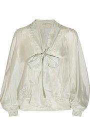 Антонио Берарди Pussybow шелк-вуаль блузка