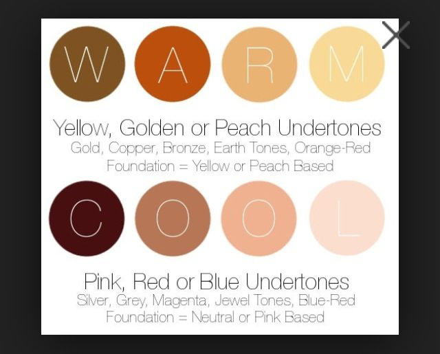 Colors And How To Devide Hair Colors In Cool Shades And Warm Shades  Dark Br