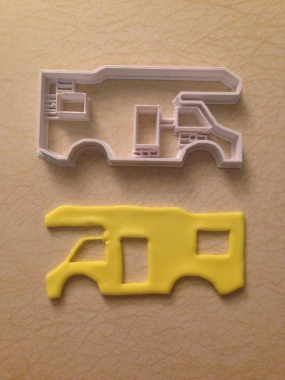 Camper motorhome Fire Camping  cookie cutter fondant cakes party camping  molds