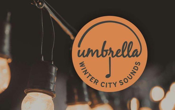 Logo Design for upcoming Adelaide live music festival Umbrella: Winter City Sounds