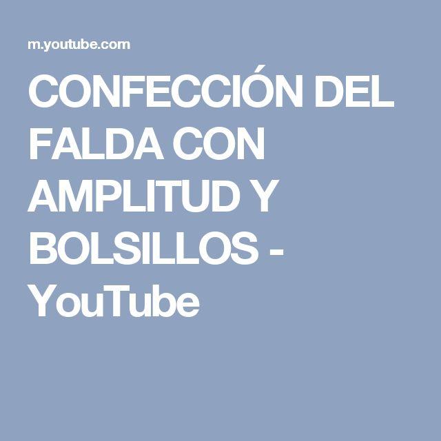 CONFECCIÓN DEL FALDA CON AMPLITUD Y BOLSILLOS - YouTube