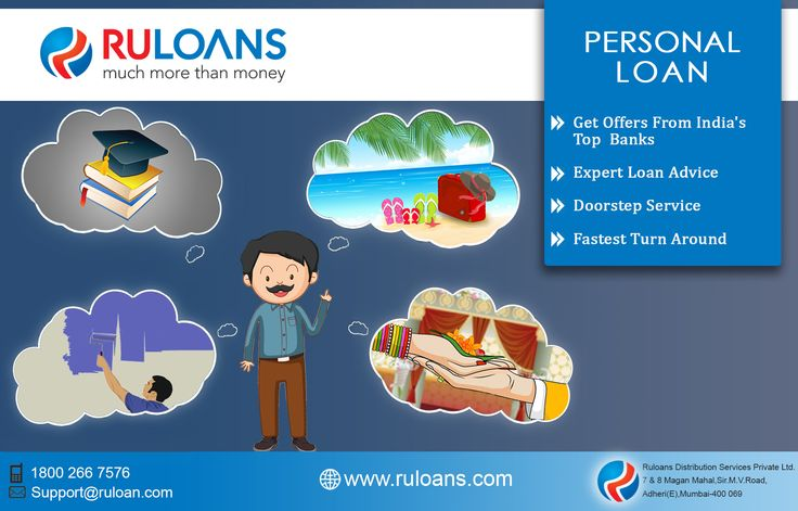 Personal Loan - Ruloan offers Personal Loan in Mumbai as well as all over India. Contact us for cost effective & best personal loan deal now! http://www.ruloans.com/personal-loan/new-personal-loan