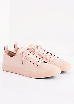 Pink Vegan Leather Low Top Sneaker by EpicStep | rue21