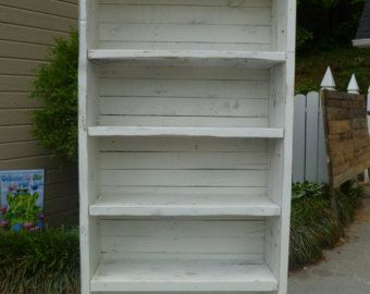 Distressed Pallet Bookcase