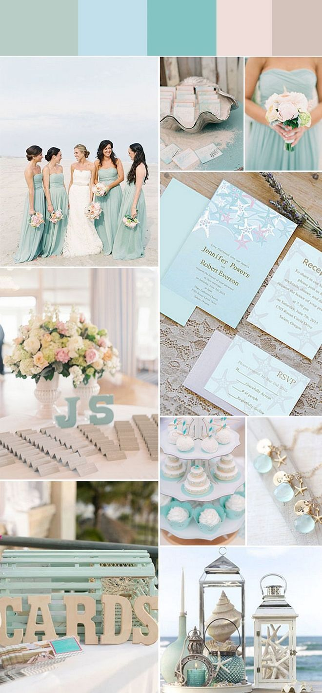 50 Stunning Beach Wedding Color Ideas for this Summer | Pinterest ...