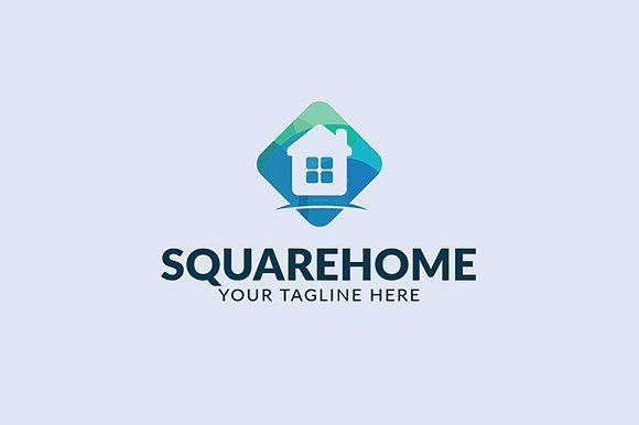 Squarehome Logo by atsar on @creativemarket