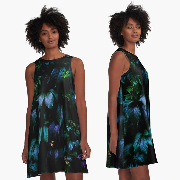 Welcome to the Jungle A-Line Dress #forest #nature #jungle #floral #botanical #dark #magical #colorful #dress #apparel