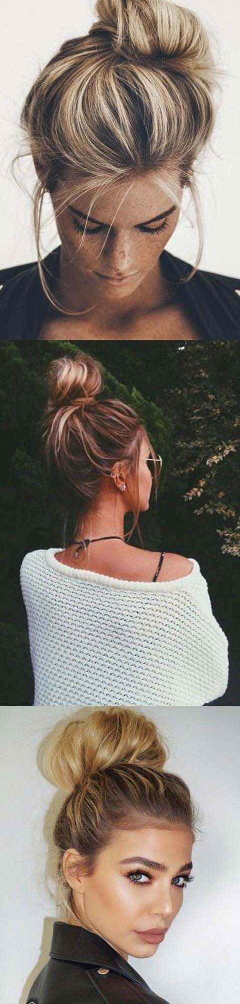 Easy top knot ideas