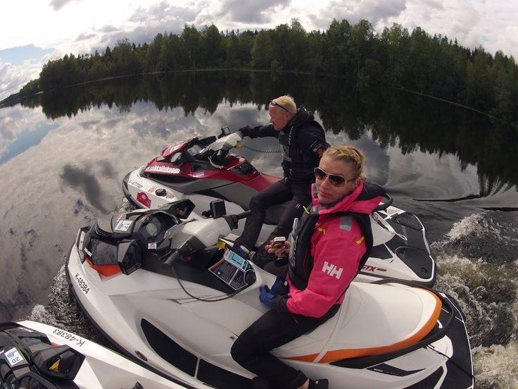 Jet ski adventure at Finnish Lakeland