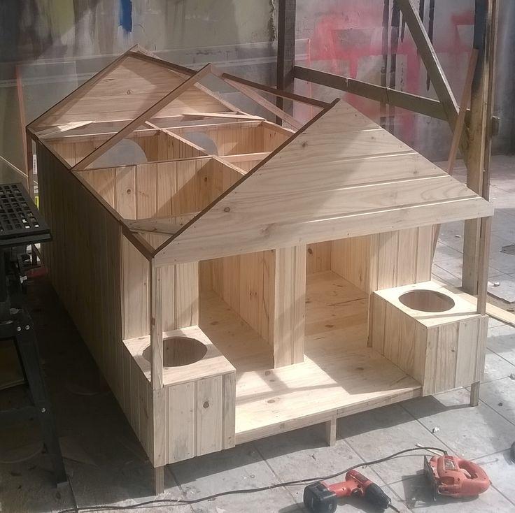 casinha de madeira para 4 cachorros porte G