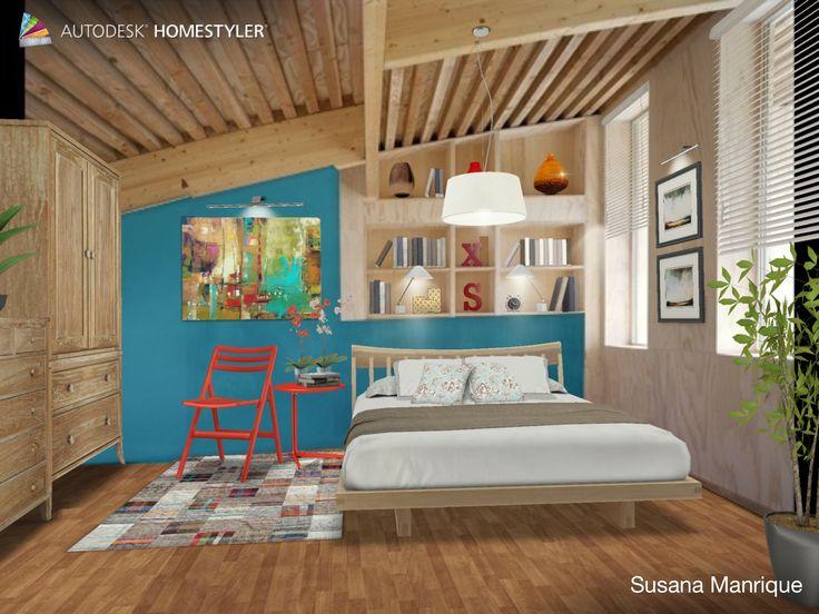 Dormitorio de casa de pueblo