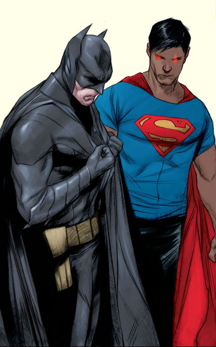 Earth 2 Batman & New 52 Superman - Jae Lee & Ben Oliver