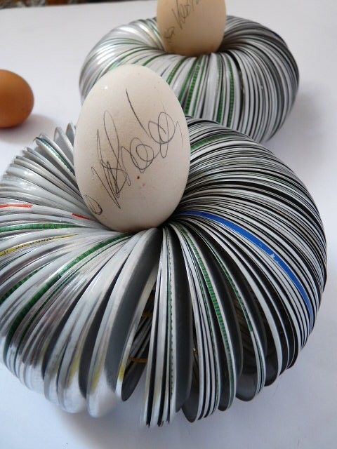 I sign my eggs before eating them. Ivča Vostrovska.